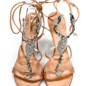 322c317bf94be Giuseppe Zanotti Shoes - Giuseppe Zanotti Silver Jeweled Scorpion Heel